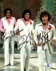 Beckett Brady Bunch Boys Barry Williams-knight-lookinland Signed 8x10 Photo 1222