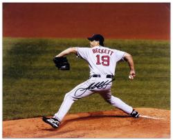 "Josh Beckett Boston Red Sox Autographed 16"" x 20"" Horizontal Photograph"