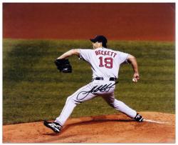 "Josh Beckett Boston Red Sox Autographed 16"" x 20"" Horizontal Photograph"