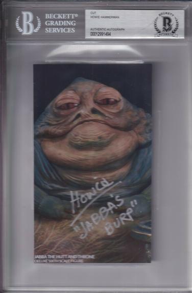 "Beckett Slabbed Howie Hammerman ""jabba's Burp"" Star Wars Cut Photo 00012991494"