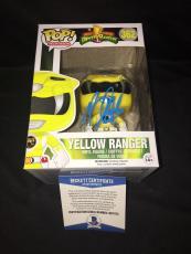 Becky G Signed Official Yellow Power Ranger Funko Pop Vinyl Figure Beckett #2