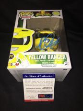 Becky G Signed Official Yellow Power Ranger Funko Pop Vinyl Figure PSA #3