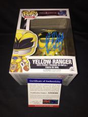 Becky G Signed Official Yellow Power Ranger Funko Pop Vinyl Figure PSA #4