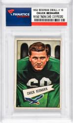 BEDNARIK, CHUCK (1952 BOWMAN SMALL # 10) CARD - Mounted Memories