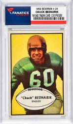BEDNARIK, CHUCK (1953 BOWMAN # 24) CARD - Mounted Memories