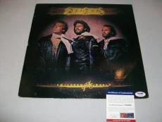 """BEE GEES BARRY GIBB signed autographed """"CHILDREN OF THE WORLD"""" LP RECORD PSA/DNA"""
