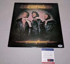 "BEE GEES BARRY GIBB signed autographed ""CHILDREN OF THE WORLD"" LP RECORD PSA/DNA"