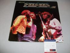 "BEE GEES BARRY GIBB signed autographed ""HERE AT LAST"" LP RECORD PSA/DNA COA"