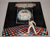"BEE GEES BARRY GIBB signed autographed ""SATURDAY NIGHT FEVER"" LP RECORD BECKETT"