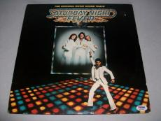 """BEE GEES BARRY GIBB signed autographed """"SATURDAY NIGHT FEVER"""" LP RECORD PSA/DNA"""