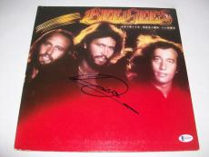 "BEE GEES BARRY GIBB signed autographed ""SPIRITS"" LP RECORD BECKETT COA! BAS!"
