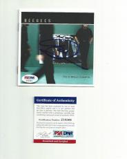 """BEE GEES BARRY GIBB signed autographed """"THIS IS WHERE.."""" CD BOOKLET PSA/DNA COA"""