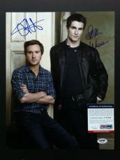Being Human Sam Witwer & Sam Huntington Signed 11x14 Photo Psa Coa Cast Proof