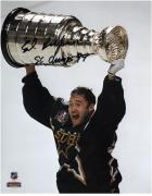 "Ed Belfour Dallas Stars 1999 Stanley Cup Champions Autographed 8"" x 10"" Trophy Photograph with SC Champs 99 Inscription"