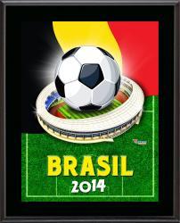 """Belgium 2014 Brazil Sublimated 10.5"""" x 13"""" Plaque"""