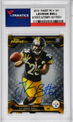 Le'Veon Bell Pittsburgh Steelers Autographed 2013 Topps Finest #141 Rookie Card
