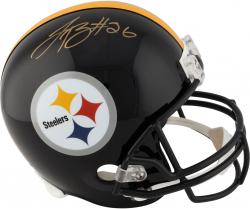 Le'Veon Bell Pittsburgh Steelers Autographed Riddell Replica Helmet - Mounted Memories