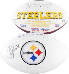 Le'Veon Bell Pittsburgh Steelers Autographed White Panel Football - Mounted Memories