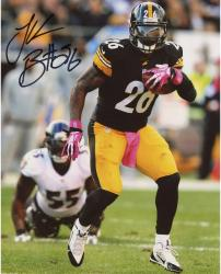 "Le'Veon Bell Pittsburgh Steelers Autographed 8"" x 10"" Black Jersey Running Photograph"