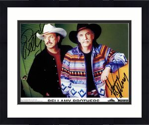 Bellamy Brothers Autographed Signed 8x10 Photo UACC RD Coa AFTAL