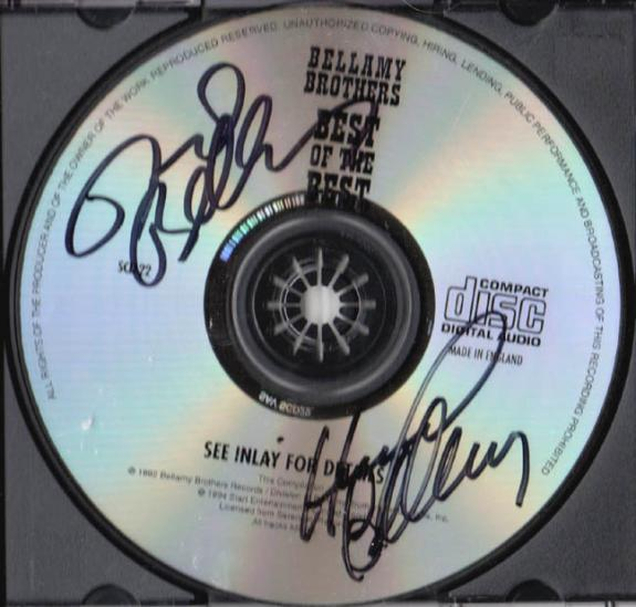 Bellamy Brothers Autographed Signed Best Of Best CD UACC RD COA AFTAL