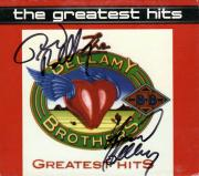 Bellamy Brothers Autographed Signed Greatest Hits CDC UACC RD CO AFTAL