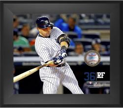 "Carlos Beltran New York Yankees Framed 20"" x 24"" Gamebreaker Photograph with Game-Used Ball"