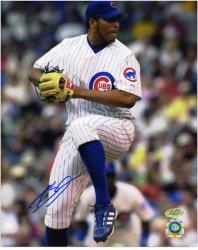 """Francis Beltran Chicago Cubs Autographed 8"""" x 10"""" Leg Lift Photograph"""