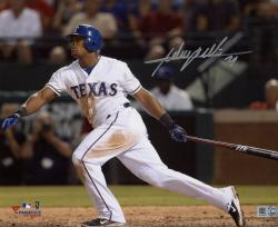 Adrian Beltre Texas Rangers Autographed 8'' x 10'' Horizontal White Hitting Photograph - Mounted Memories