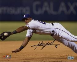 Adrian Beltre Texas Rangers Autographed 8'' x 10'' Dive For Ball Photograph - Mounted Memories