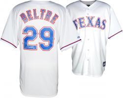 Adrian Beltre Texas Rangers Autographed Majestic Replica White Jersey