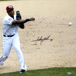 Adrian Beltre Texas Rangers Autographed 16'' x 20'' Throw With Ball Photograph - Mounted Memories