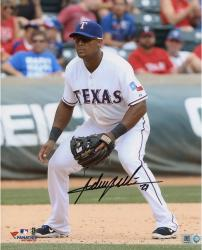 Adrian Beltre Texas Rangers Autographed 8'' x 10'' Field Position Photograph - Mounted Memories