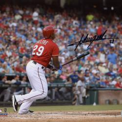 Adrian Beltre Texas Rangers Autographed 8'' x 10'' Ball Watch Photograph - Mounted Memories