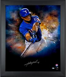 Adrian Beltre Texas Rangers Framed Autographed 20'' x 24'' In Focus Photograph-#2-24 of a Limited Edition of 25 - Mounted Memories