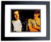 Ben Affleck and Matt Damon Signed - Autographed Good Will Hunting 11x14 inch Photo BLACK CUSTOM FRAME - Guaranteed to pass PSA or JSA