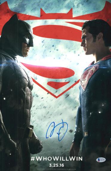 """Ben Affleck Autographed 12"""" x 18"""" Batman v Superman Movie Poster - BAS COA"""
