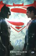 "Ben Affleck Autographed 12"" x 18"" Batman v Superman Movie Poster - BAS COA"
