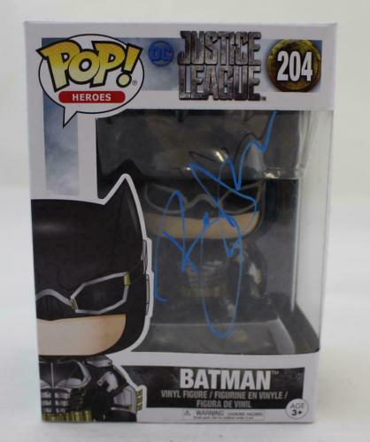 Ben Affleck Autographed/Signed Batman Funko Pop 204 BAS 21508