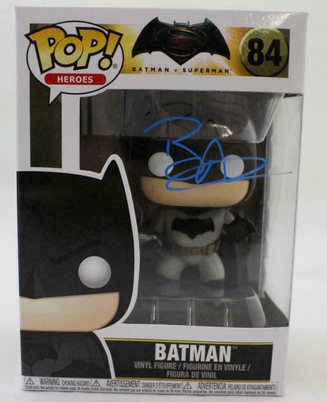 Ben Affleck Autographed/Signed Batman Funko Pop 84 BAS 21506