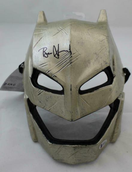 Ben Affleck Autographed/Signed Batman Hard Gold Mask BAS 21505