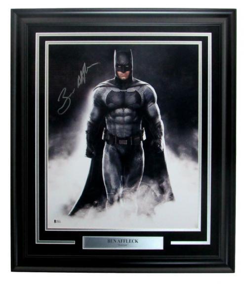 """Ben Affleck """"Batman"""" Signed/Autographed 16x20 Photo Framed BAS/Beckett 146948"""