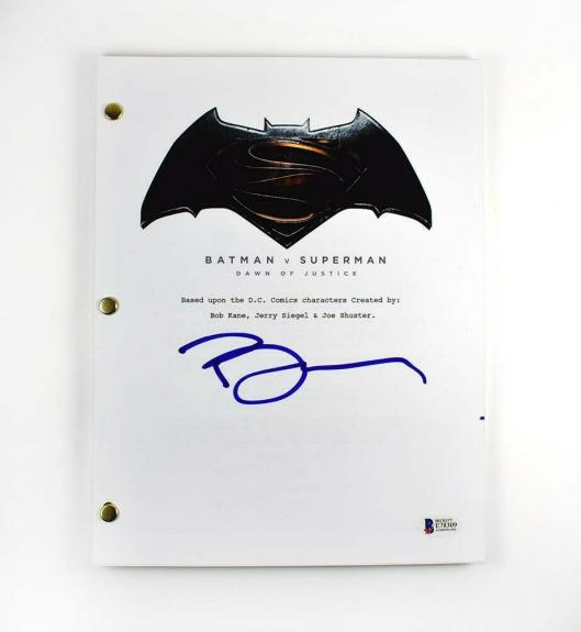 Ben Affleck Batman v Superman Autographed Signed Script Authentic BAS COA AFTAL