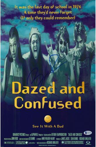 """Ben Affleck Dazed and Confused Autographed 12"""" x 18"""" Movie Poster - BAS"""