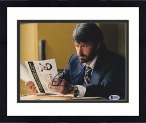 Ben Affleck Signed 8x10 Photo Batman Argo Beckett Bas Autograph Auto Coa D