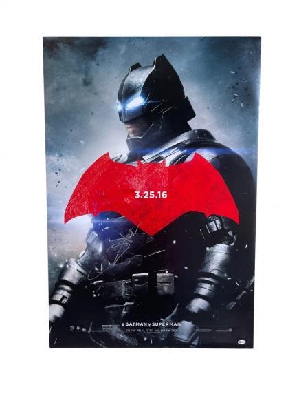 Ben Affleck Signed Batman V Superman Original Full Size Poster Ds Auto Beckett