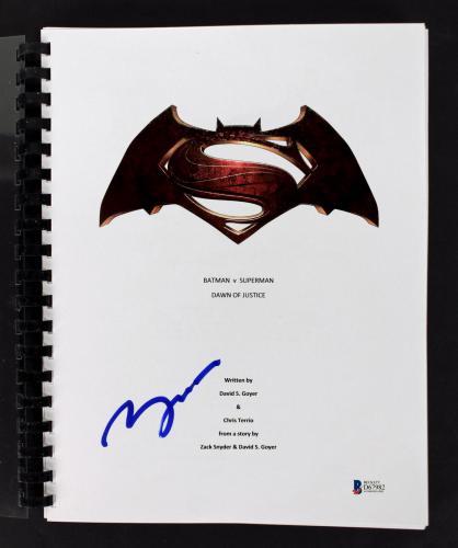 Ben Affleck Signed  Batman VS Superman Dawn Of Justice Movie Script BAS #D67982