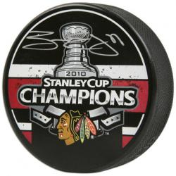Chicago Blackhawks Ben Eager 2010 Stanley Cup Champions Autographed Puck