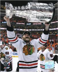 "Chicago Blackhawks Ben Eager 2010 Stanley Cup Champions Autographed 8"" x 10"" Photo"