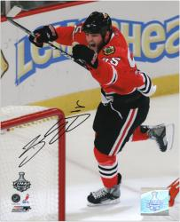 "Chicago Blackhawks Ben Eager 2010 Stanley Cup Champions Autographed 8"" x 10"" Photo -"